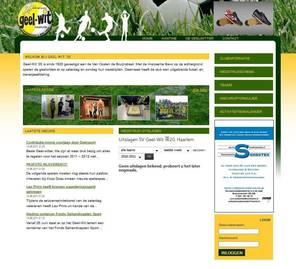 website voetbalvereniging geel-wit